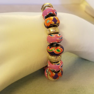 "NWT Poly-Clay Dionne Beads Bracelet 7"""